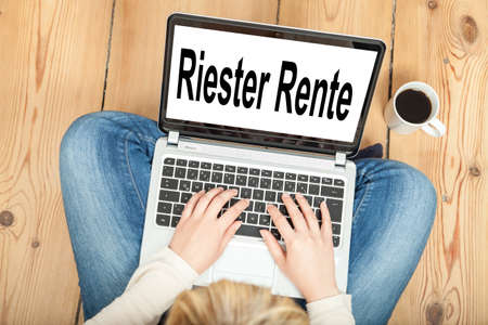 Riester Rente (german pension) Stock Photo