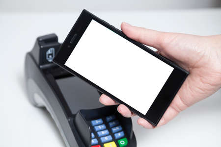 merchant: Mobile Payment with whitespace on phone