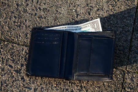change purses: Lost wallte with 1 Dollar note