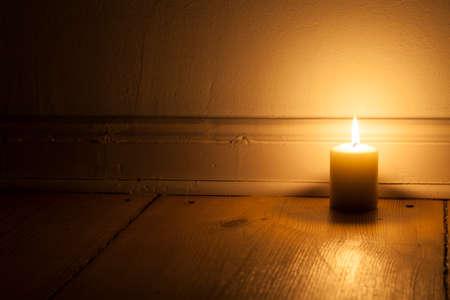 luz de vela: Luz de una vela