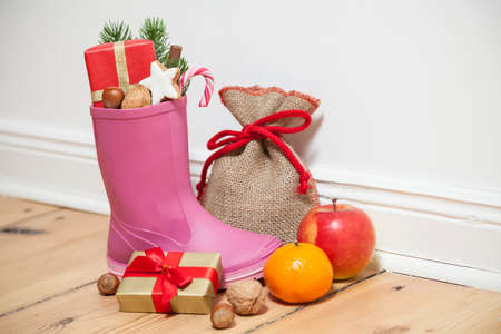 Santa Boots as a gumboot Standard-Bild