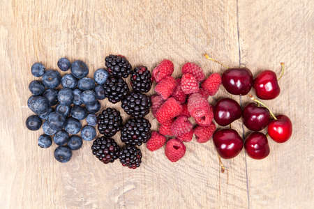 vitamine: Blueberry, raspberry, blackberry and cherry fruits