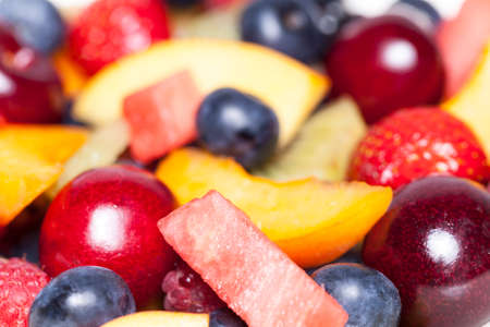 fruit salad close-up