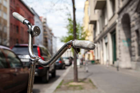 outmoded: Old bicycle in Berlin