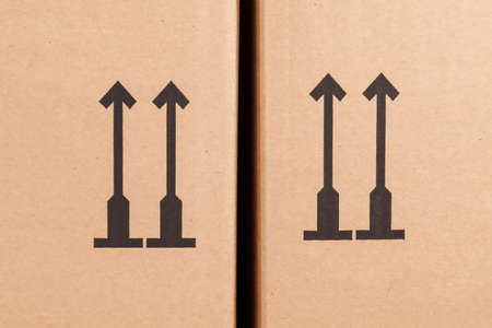 moving box: Up arrow on moving box