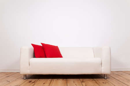 whitespace: Sofa and space on wall  Stock Photo