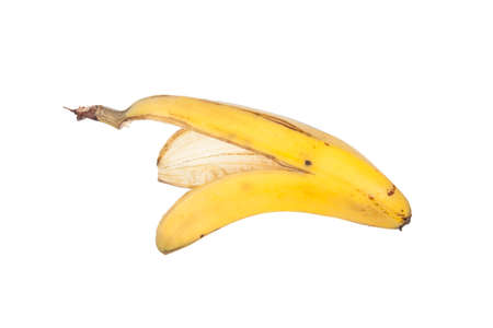coincidence: Banana peel on white
