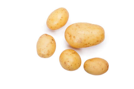 Potatoes isolated Stock Photo