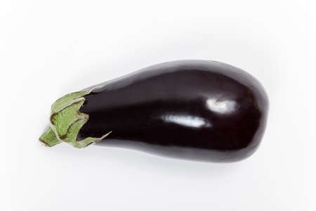 unboiled: Aubergine isolated Stock Photo