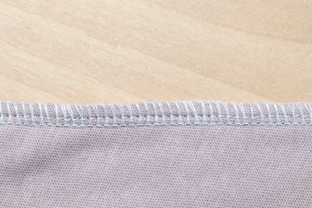 seams: Overlock seams Stock Photo