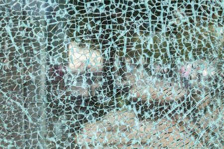 壊れたガラスの背景 写真素材