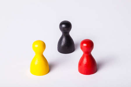 optional: Black, red yellow figures Stock Photo