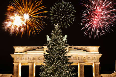 New Years Eve at Brandenburger gate in Berlin
