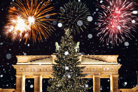 New Years Eve in Berlin Stock Photo