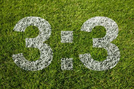 3:3 on soccer meadow