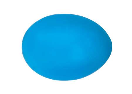 Blue easter egg on white
