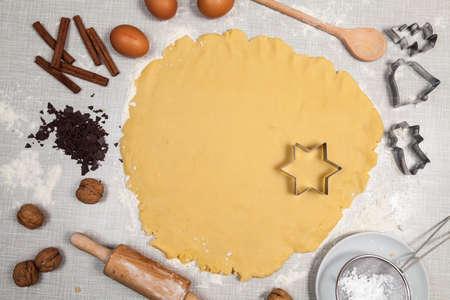 Bake cookies for christmas Standard-Bild