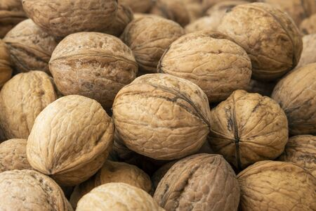 Top view natural walnut photo backgrounds