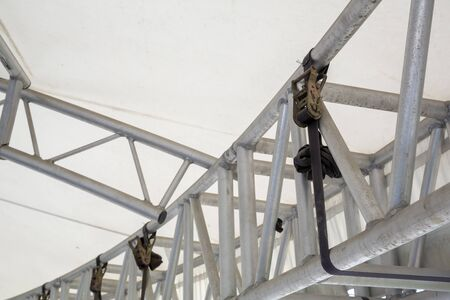 White Steel frame tents Background
