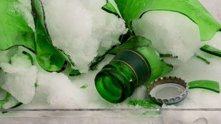 the broken soda glass in deep freeze