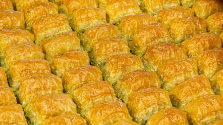 Baklava is pastry dessert. Traditional turkish dessert Фото со стока