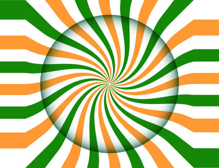 Round background to the day of India's independence Ilustração