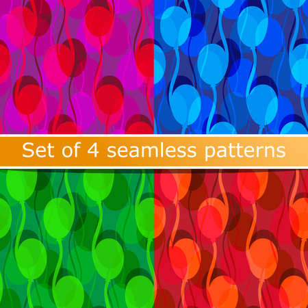 Seamless pattern of stylized balloons with shadow. Set of beautiful backgrounds. Background for children. Background for the design of children's day. Template for printing on fabric.