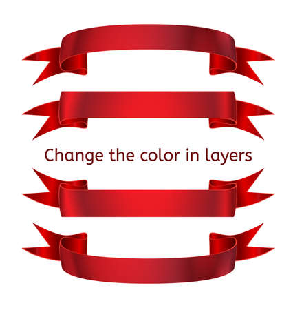 Ribbons in the style of realism. Template for decoration festive design. Ribbon banner. Ribbon for the banner. Ribbon for the headline.