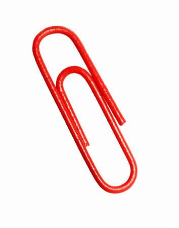 Red Paper Clip Stok Fotoğraf