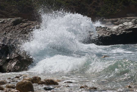 Wave on the rock