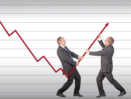 Businessmen are joining the effort to restore decreasing trend Stock Photo - 15531154