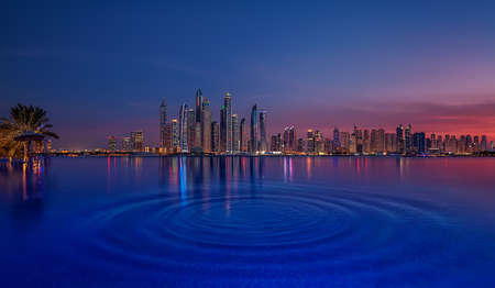 Dubai Marina at sunset