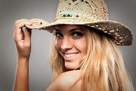 Pretty blond cowgirl