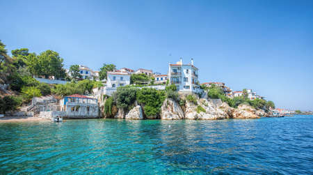 The old port of Skiathos Stockfoto
