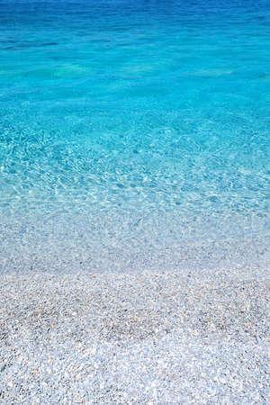 Gros plan d & # 39 ; une belle plage turquoise dans la frégate Banque d'images - 99366927