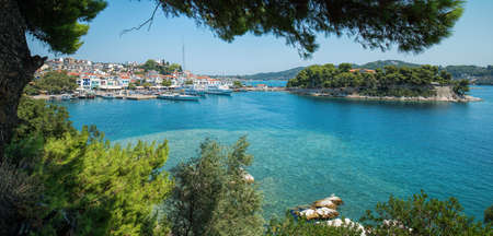 Skiathos town and bourtzi island