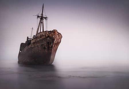 Old shipwreck near gythio