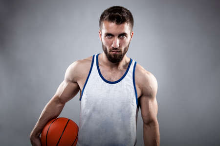 Portrait of an attractive basketball player