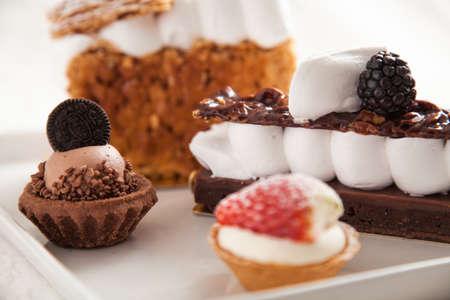 Various pieces of cake Stock fotó