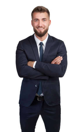 Portrait of an attractive business man with beard