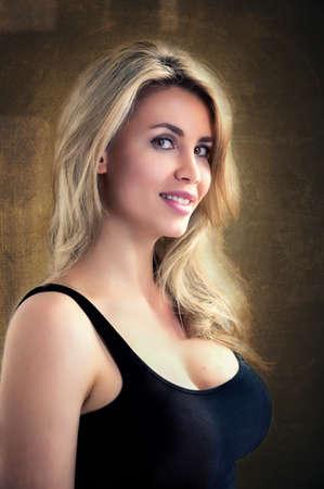 Portrait of a beautiful blond woman Stock fotó