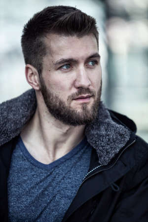 Portrait of an attractive man with beard Stock fotó