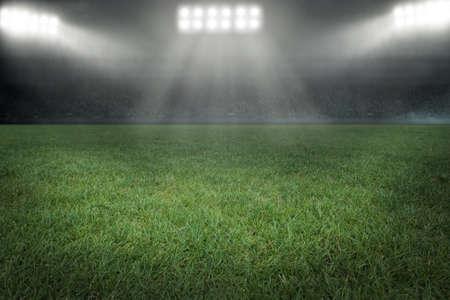Soccer stadium with floodlight Stock fotó
