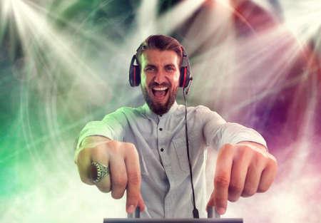 Crazy DJ at work