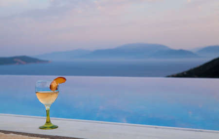 Cocktail on an infinity pool
