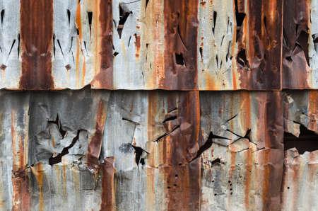 Old rusty metal wall pattern
