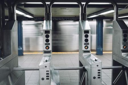 subway entrance: Entrance of NYC subway station.