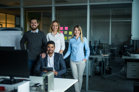 cropped shot: Cropped shot of a businesspeople posing in the office.
