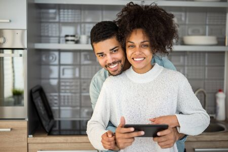 websurfing: African american couple surfing the net together. Stock Photo