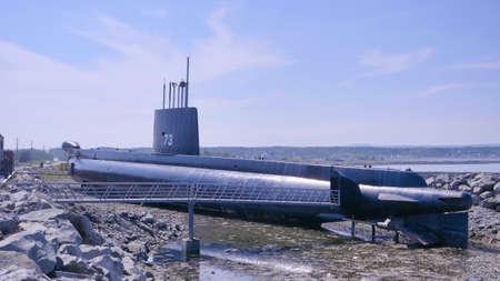 Onondaga submarine Pointe-au-Père maritime historic site Quebec, Canada.
